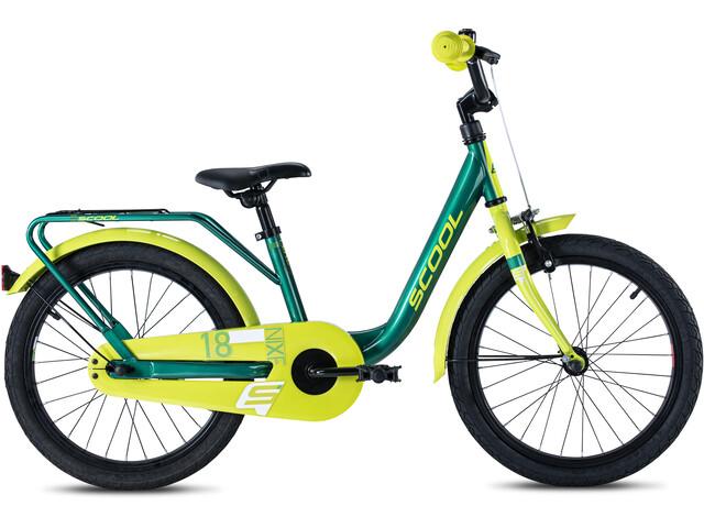 s'cool niXe steel 18 Niños, green/lemon